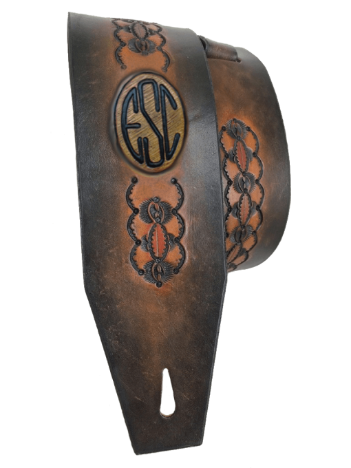 Arches Guitar Strap w Monogram 510x680 - Arches Guitar Strap