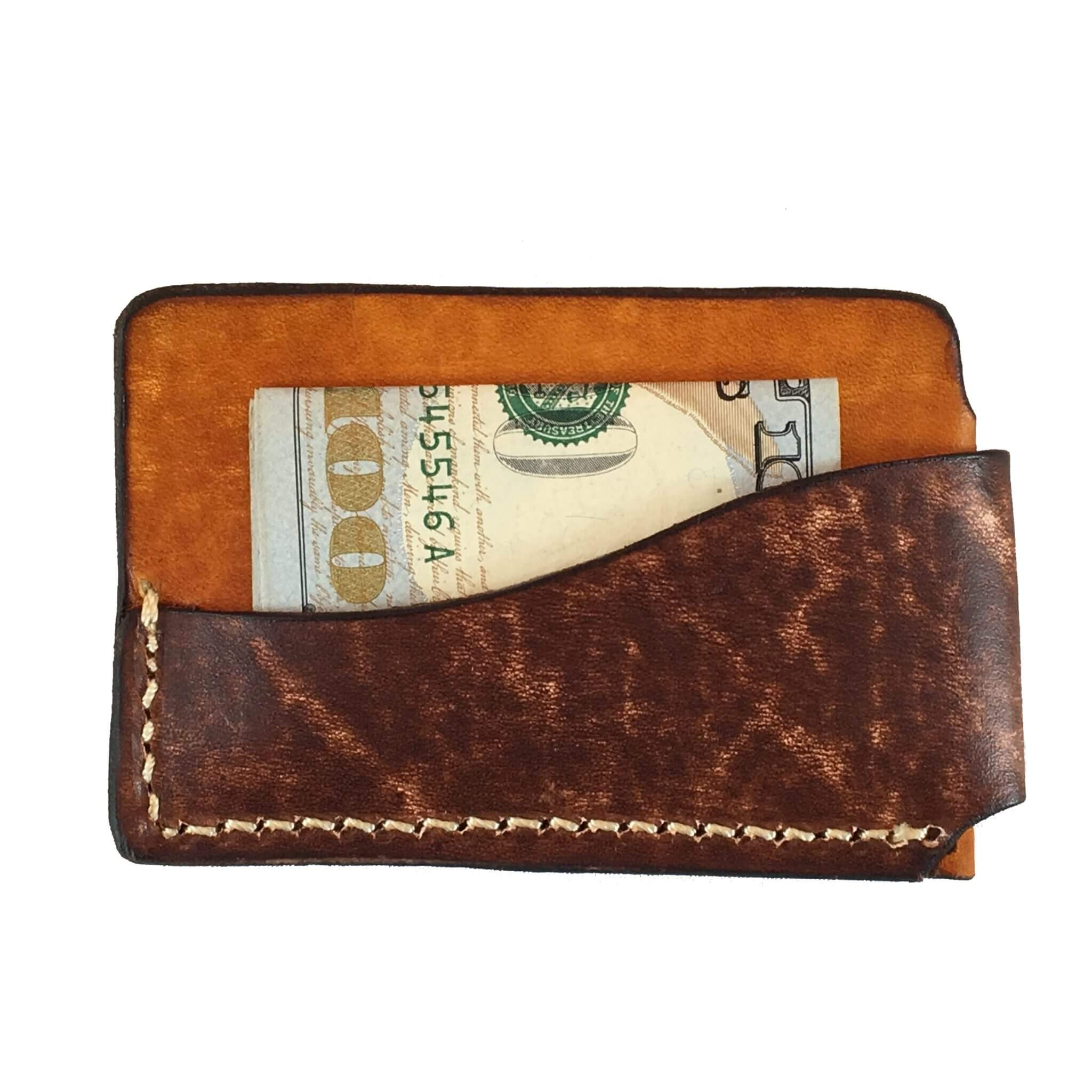 2-Tone Horizontal Front Pocket Wallet with Cash