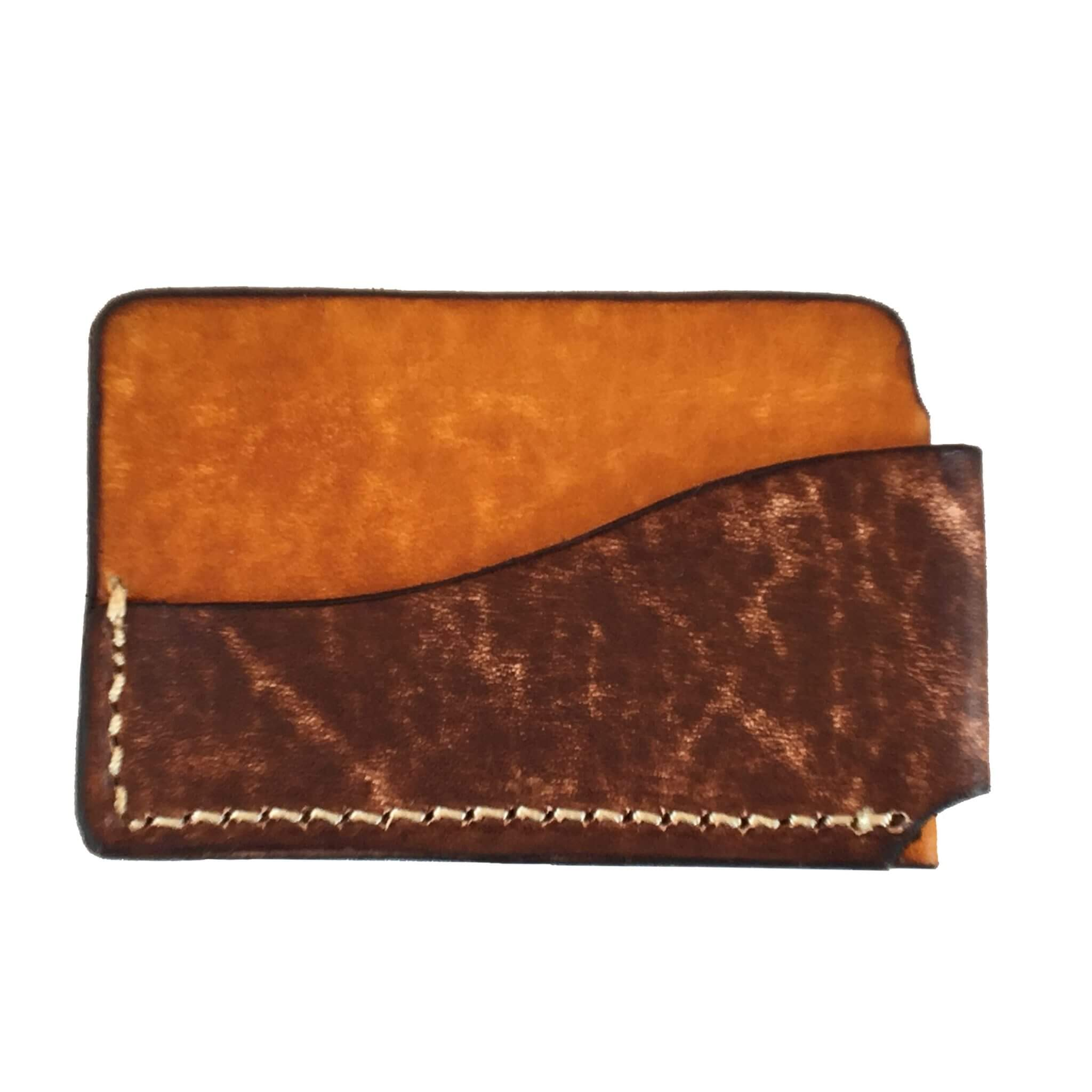 2-Tone Horizontal Front Pocket Wallet Back