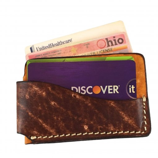 2-Tone Horizontal Front Pocket Wallet with Cards