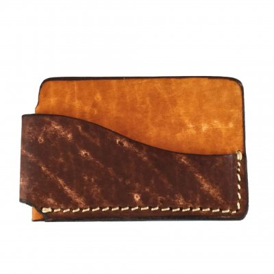 Horizontal Front Pocket Wallet 2 Tone Front 400x400 - Mystic Leather | Custom Handcrafted Leather Goods