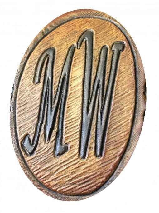 Hand Carved Initials
