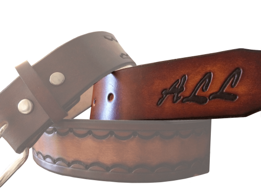 Hand Carved Belt Initials
