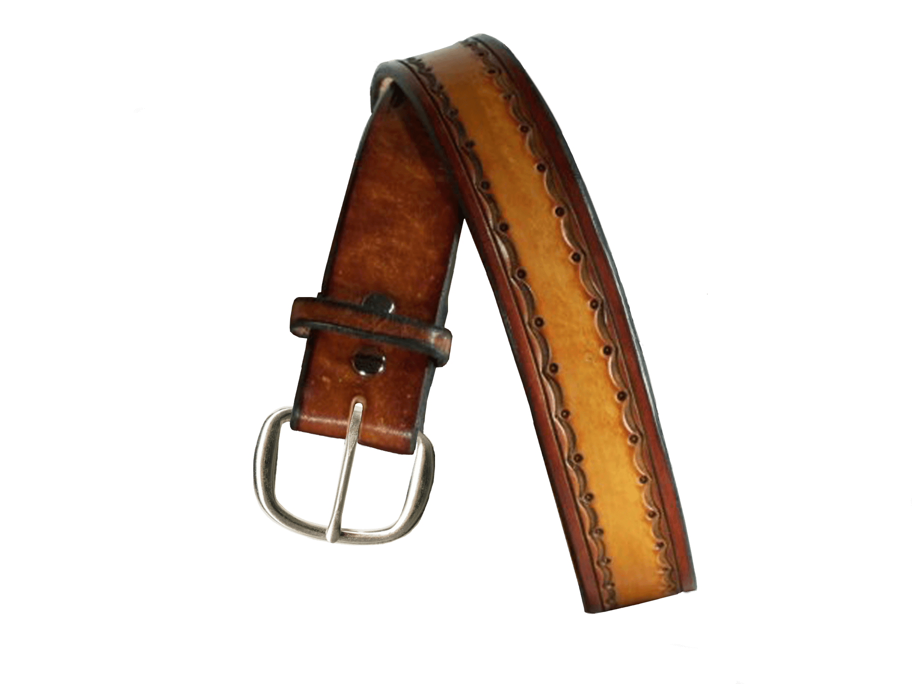 Rolling Hills Hand Tooled Leather Belt