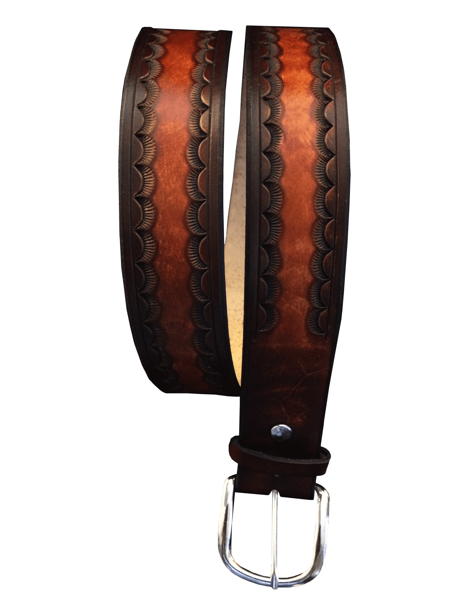 Sunrise Hand Tooled Leather Belt
