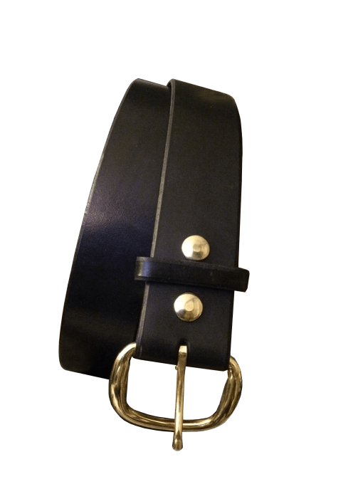 Plain Black Handcrafted Leather Belt