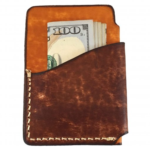 2-Tone Vertical Front Pocket Wallet Back with Money