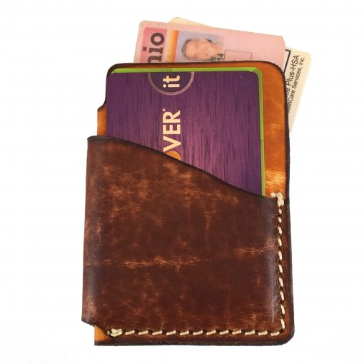 2-ToneVertical Front Pocket Wallet Front with Cards