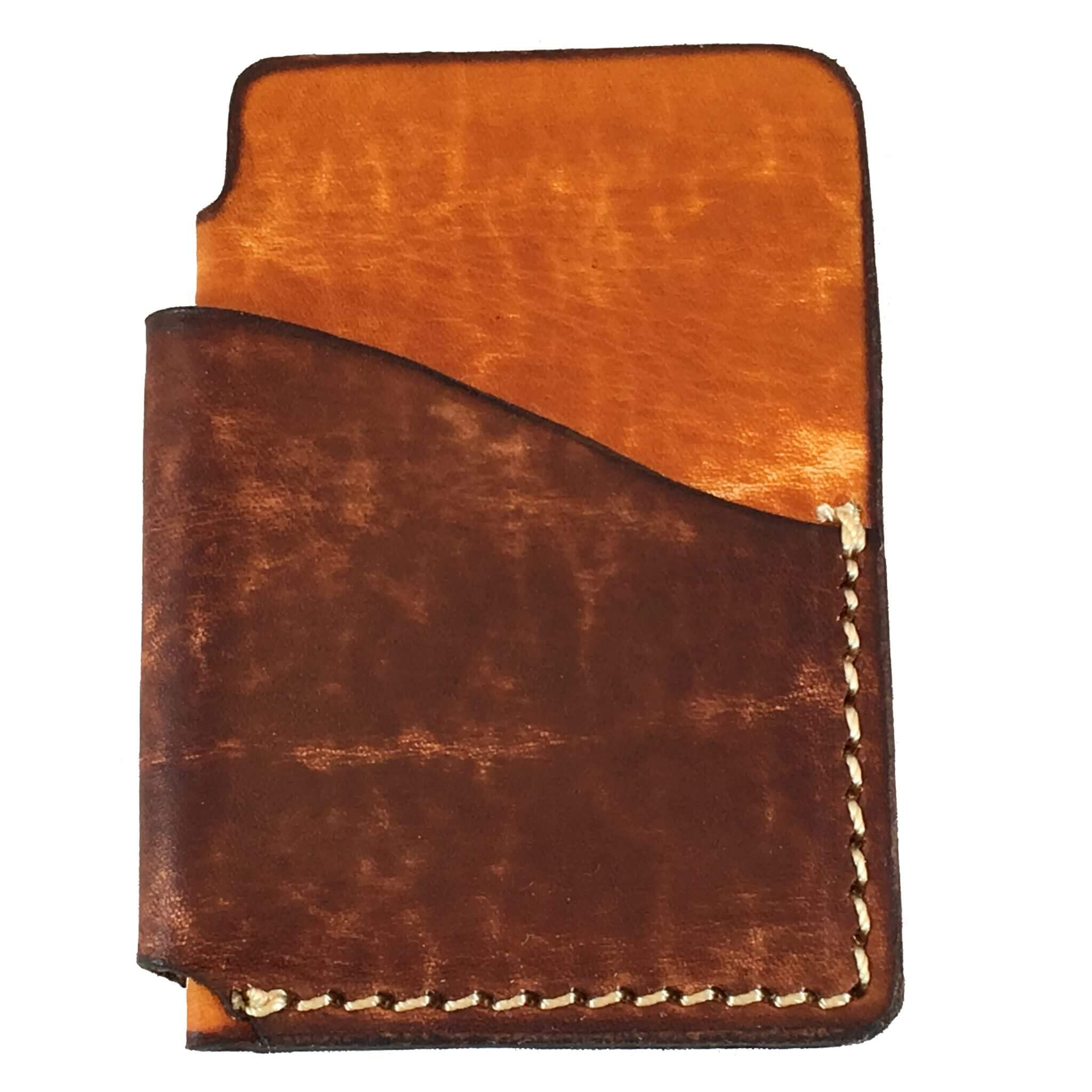 2-Tone Vertical Front Pocket Wallet Front