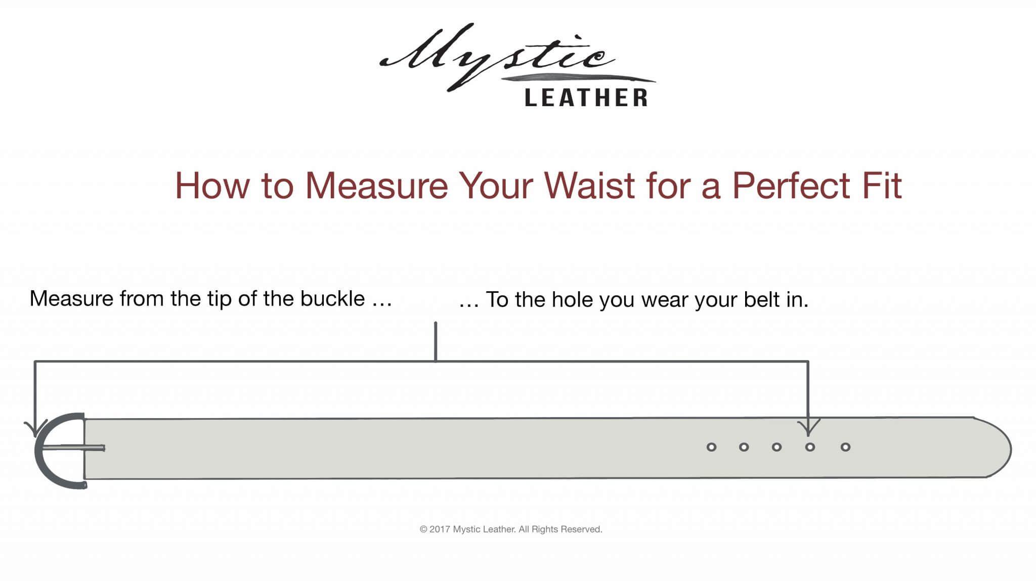 Waist Measurement - How to Order The Right Size Belt