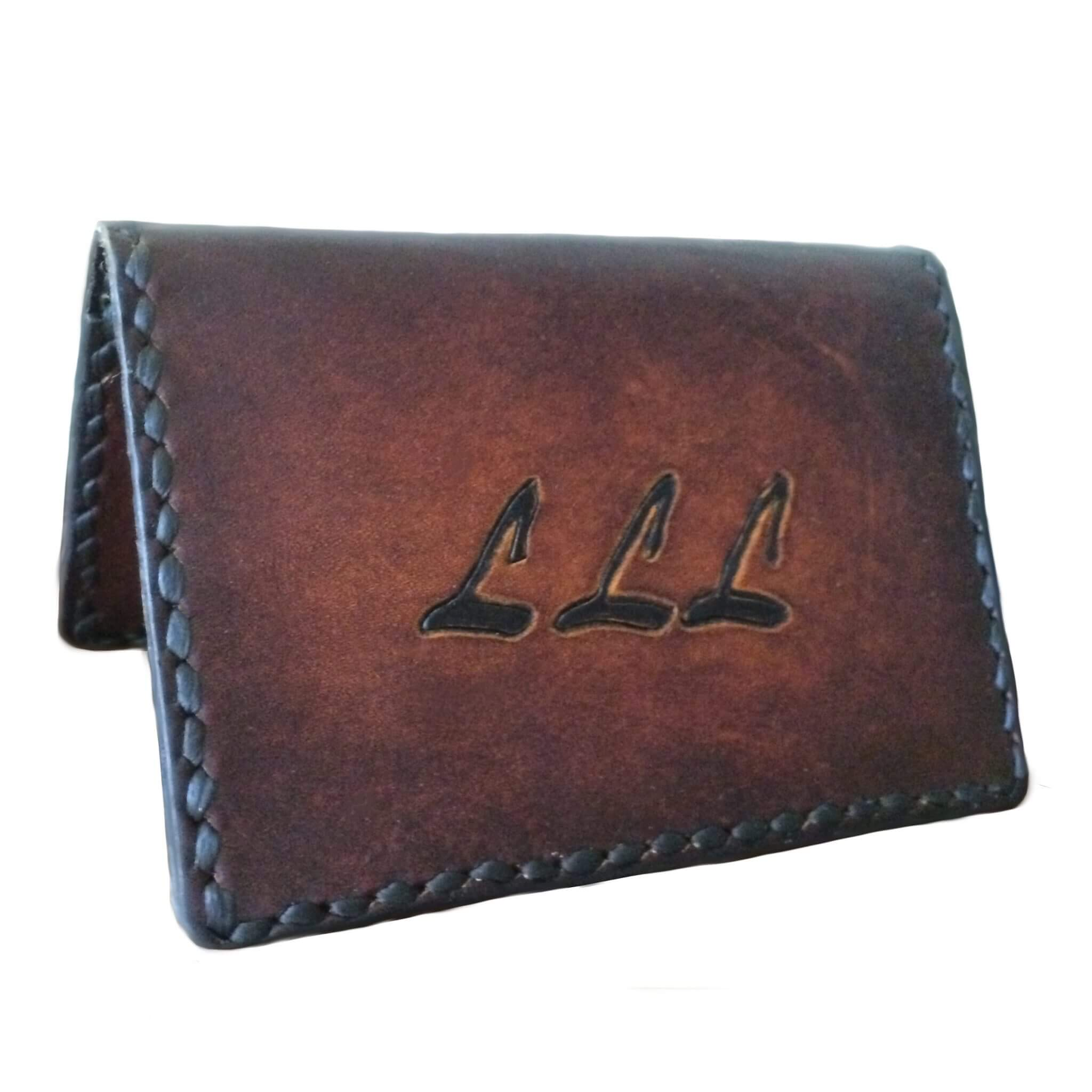 Card Case with Initials - Card Case