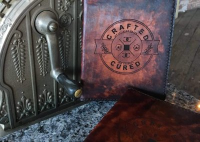 Crafted and Cured Leather Menus