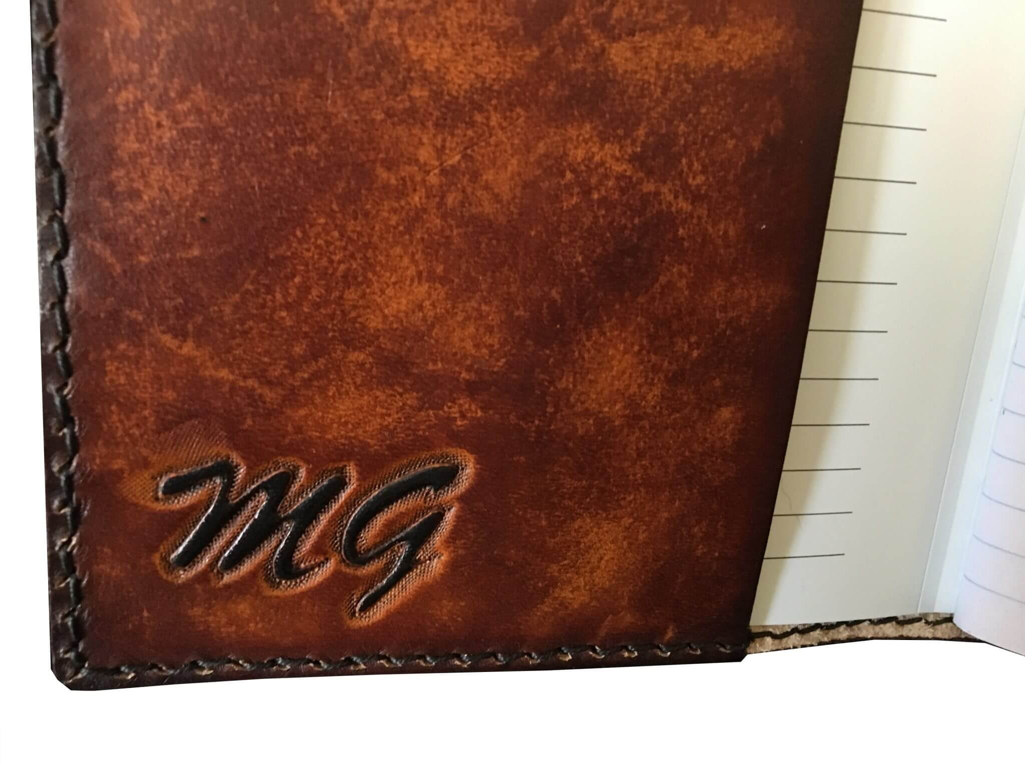 Journal with Pen Holder in Spine Initials - Field Journal