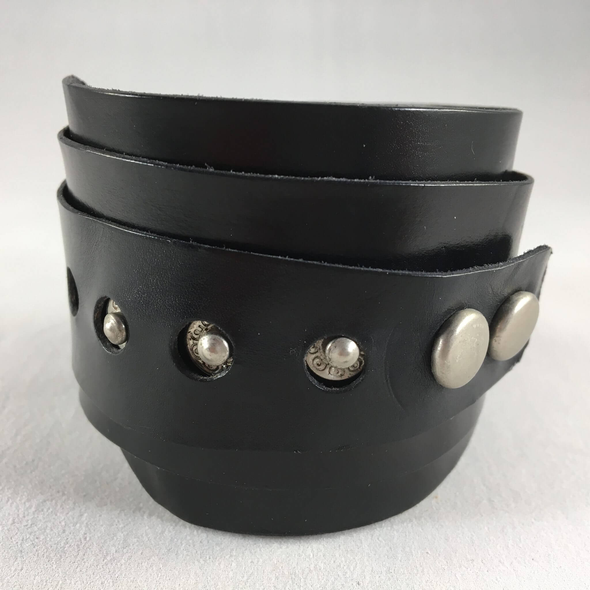 Vortex Black Studded Cuff Front